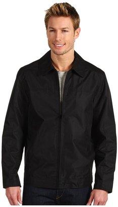 Perry Ellis Dobby Open Bottom Jacket YP526937 (Black) - Apparel