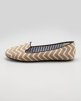 Charles Phillip Shanghai Chevron Smoking Slipper, Camel