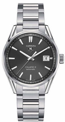Tag Heuer Analog Carrera WAR211A.BA0782 Polished Stainless Steel Watch
