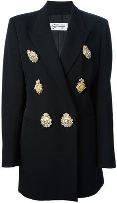 Versace Genny By Gianni Vintage brooch embellished blazer suit