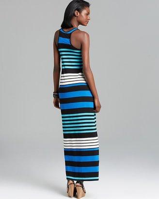 Aqua Maxi Dress - Variegated Stripe Racerback