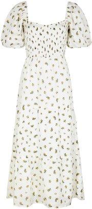 Faithfull The Brand Gianna Floral-print Linen Dress