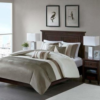 Nobrand No Brand 6pc Salem Pleated Colorblock Duvet Cover Set
