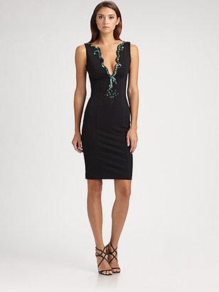 Roberto Cavalli Embroidered Jersey Dress