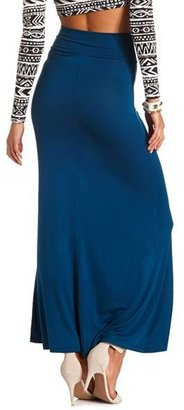 Charlotte Russe Solid Knit Maxi Skirt