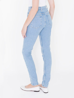 American Apparel Medium Wash High-Waist Jean