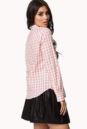 Forever 21 Checker Western Shirt