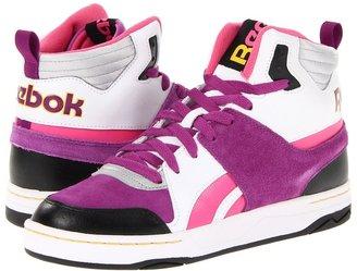 Reebok Classic She-Rebel Mid (White/Black/Aubergine/Radical Pink/Silver/Yellow) - Footwear