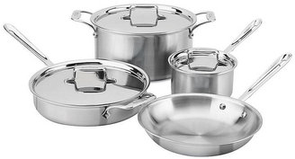 All-Clad Brushed Stainless Steel D5 7 Piece Cookware Set