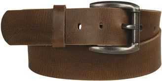 Leather Island Curved Buckle Belt - Leather (For Men)