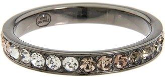 Juicy Couture London Lights - Round Rhinestone Bangle Bracelet (Black) - Jewelry