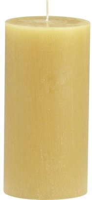 "Crate & Barrel Tupelo Ceylon 3""x6"" Pillar Candle"
