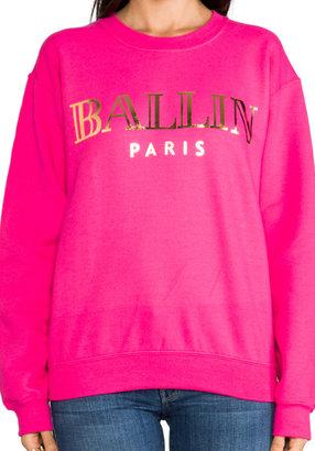 Ballin Brian Lichtenberg Sweatshirt in Hot Pink/Gold Foil