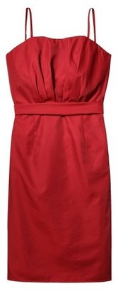 Women's Taffeta Strapless Bridesmaid Dress - TEVOLIO