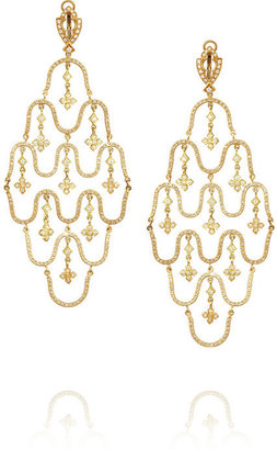 Loree Rodkin Wave 18-karat gold diamond earrings