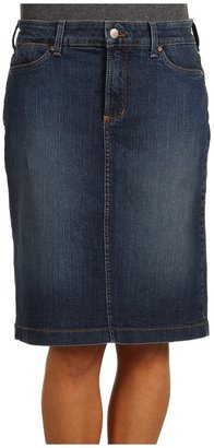 NYDJ Emma Denim Pencil Skirt in Koberg Wash (Koberg Wash) - Apparel