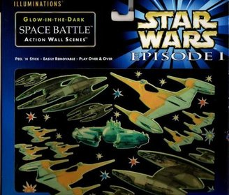 Star Wars Episode 1 Illuminations Glow-in-the-dark Space Battle Action Wall Scene