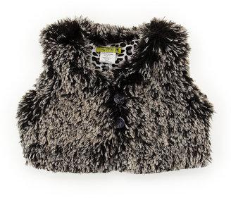 Little Mass Faux-Fur Vest, 4-6X