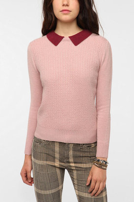 Urban Outfitters Cooperative Contrast Collar Pullover Sweater