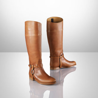 Ralph Lauren Vachetta Sage Riding Boot
