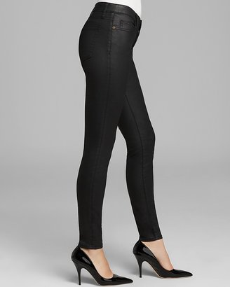 Current/Elliott Jeans - The Ankle Skinny in Black Coated