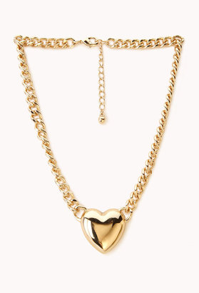 Forever 21 Heartbreaker Curb Chain Necklace
