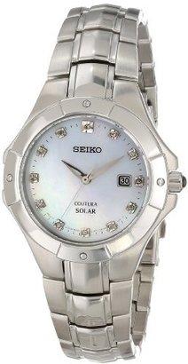 Seiko Women's SUT125 Analog Display Japanese Quartz Silver Watch $375 thestylecure.com