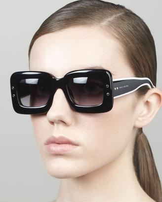 Marc Jacobs Large Square Sunglasses, Black