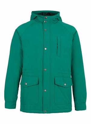 Topman Bright Green Hooded Jacket