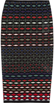 M Missoni Textured-knit cotton-blend pencil skirt