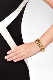 Eddie Borgo Gold Small Wave Bracelet