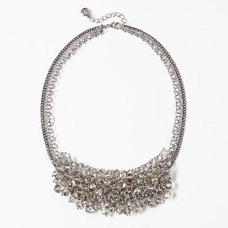 Vera Wang Simply vera two tone bead multistrand bib statement necklace