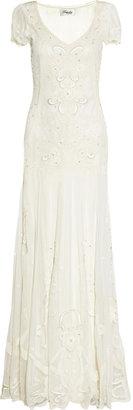 Temperley London Long Elisha silk-blend appliquéd tulle gown