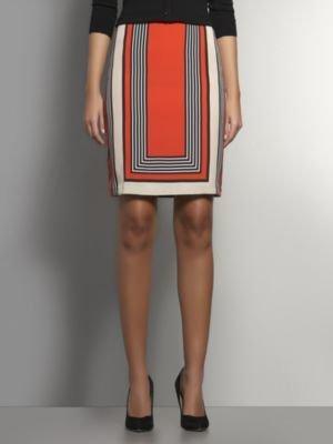 New York & Co. Graphic Stripe Silky Skirt
