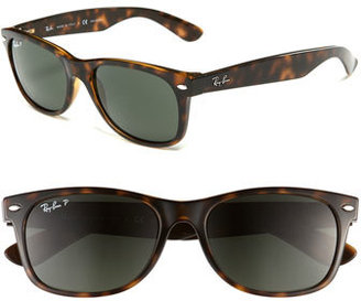 Women's Ray-Ban Standard New Wayfarer 55Mm Polarized Sunglasses - Grey $190 thestylecure.com