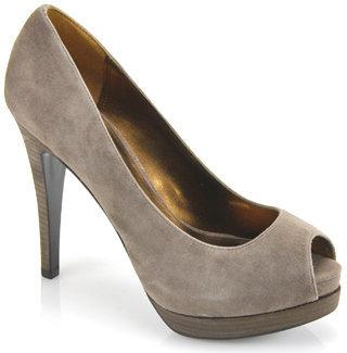 Pelle Moda Wrigley - Grey Suede Open Toe Pump