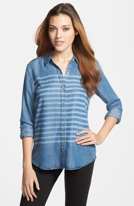 Halogen Stripe Chambray Shirt