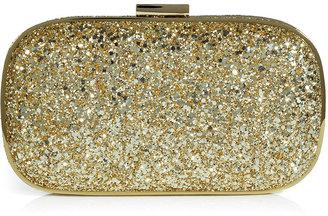 Anya Hindmarch Gold Glitter Marano Hard Shell Clutch