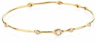 Ippolita Stardust 18K Yellow Gold & 9-Diamond Bangle Bracelet