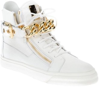 Giuseppe Zanotti Design chain detail hi-top sneakers