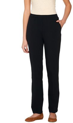 Linea By Louis Dell'olio Leisure by Louis Dell'Olio Petite Knit Pull-On Pants