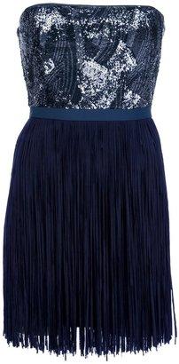 BCBGMAXAZRIA sequinned strapless dress