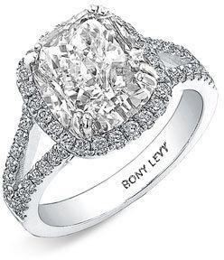 Nordstrom Bony Levy 'Bridal' Diamond Split Shank Semi Mount Ring Exclusive)