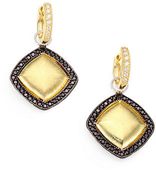 Jude Frances Black Spinel, 18K Yellow Gold and Sterling Silver Earring Charms