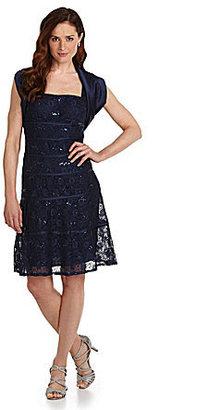 J.R. Nites 2-Piece Lace Jacket Dress