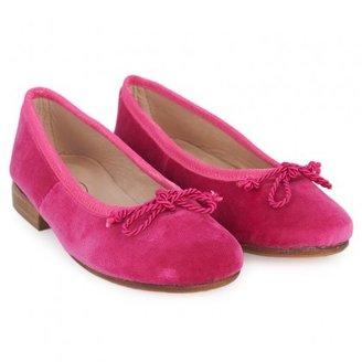 Oscar de la Renta Pink Velvet Sabrina Pumps