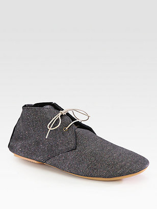 Anniel Glitter Suede Ankle Boots
