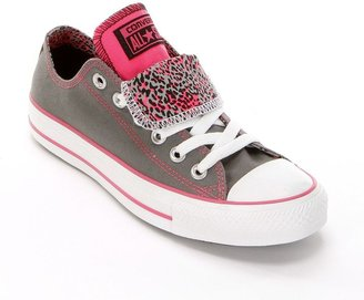 Converse chuck taylor all star double-tongue leopard sneakers - women