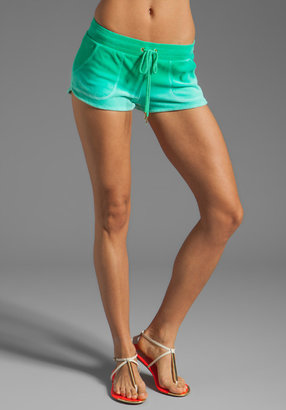 Juicy Couture Ombre Velour Dolphin Short in Bright Jade