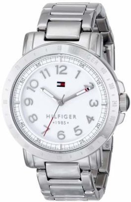Tommy Hilfiger Women's 1781397 Analog Display Quartz Silver Watch $120 thestylecure.com